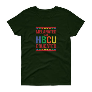 Melanated and HBCU Educated - Women's short sleeve t-shirt
