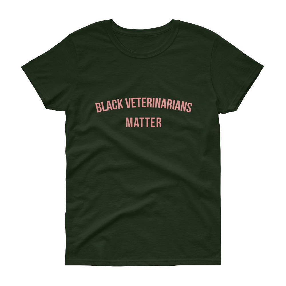 Black Veterinarians Matter - Women's short sleeve t-shirt