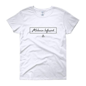 Melanin Infused- Women's short sleeve t-shirt