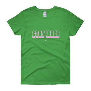 Stay Woke - Women's short sleeve t-shirt