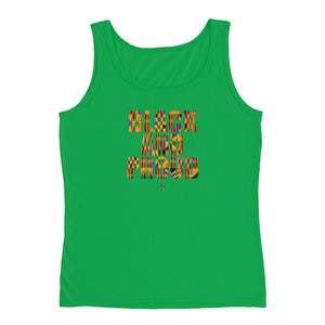 Black and Proud African Print - Tank Top