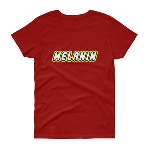 Melanin (lego) - Women's short sleeve t-shirt