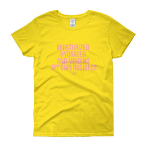 Moisturized Hydrated and Minding My Own Business - short sleeve t-shirt