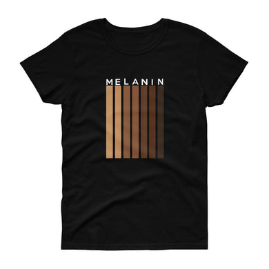 Melanin (stripe) - Women's short sleeve t-shirt