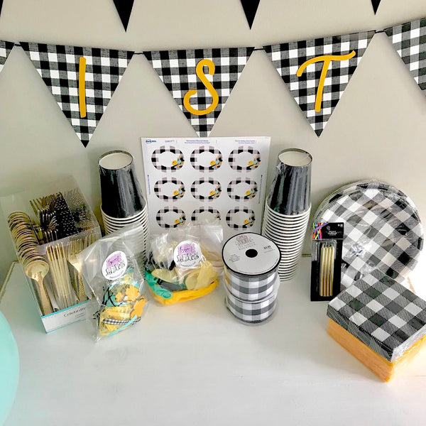 Plaid and Floral Party Box