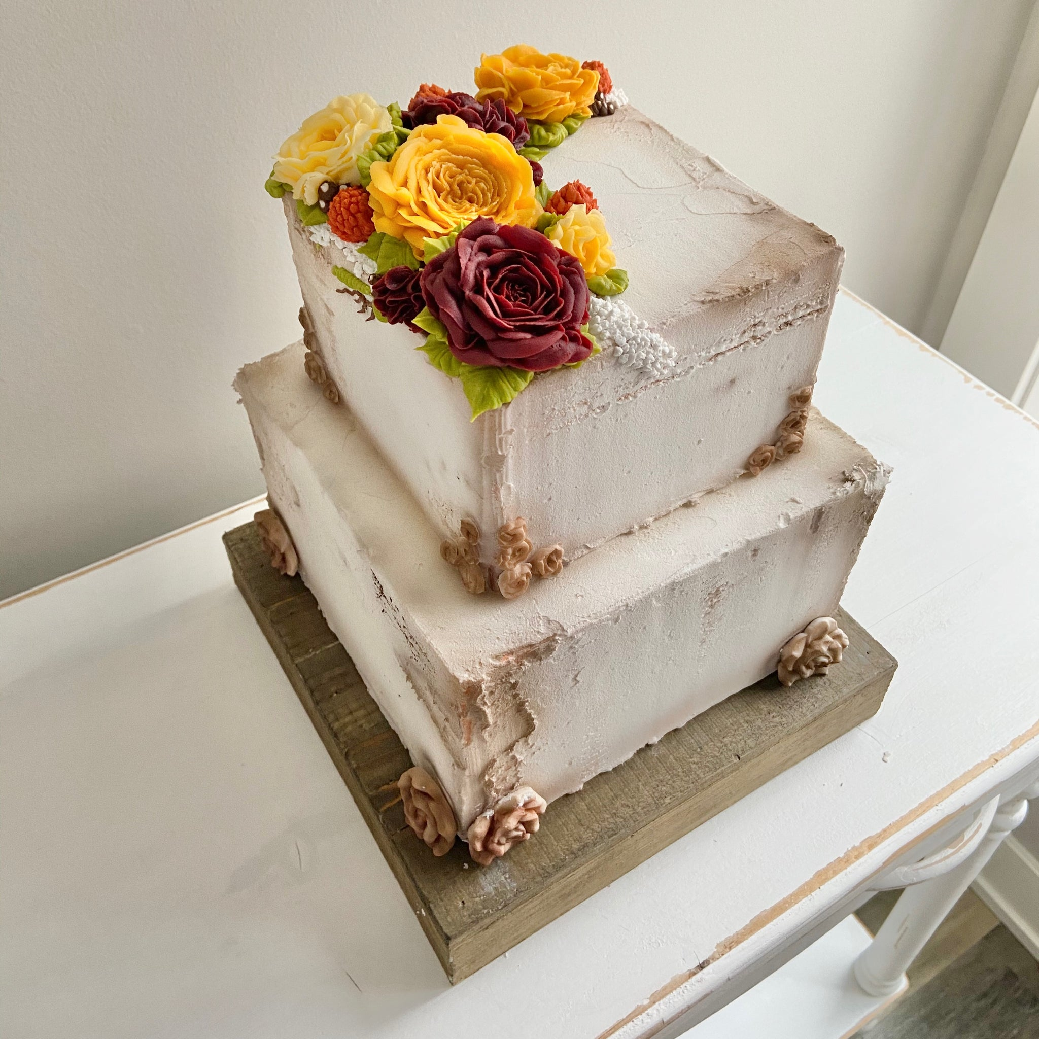Rustic Fall Wedding Cake