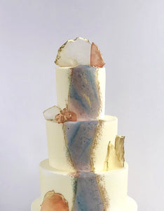 Marble Accent Tiered Cake