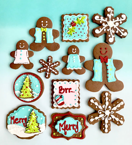 Decorated Chocolate Cookies