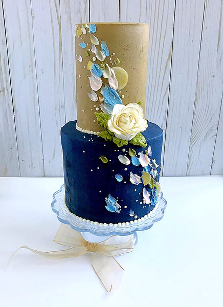 Painted Tiered Cake