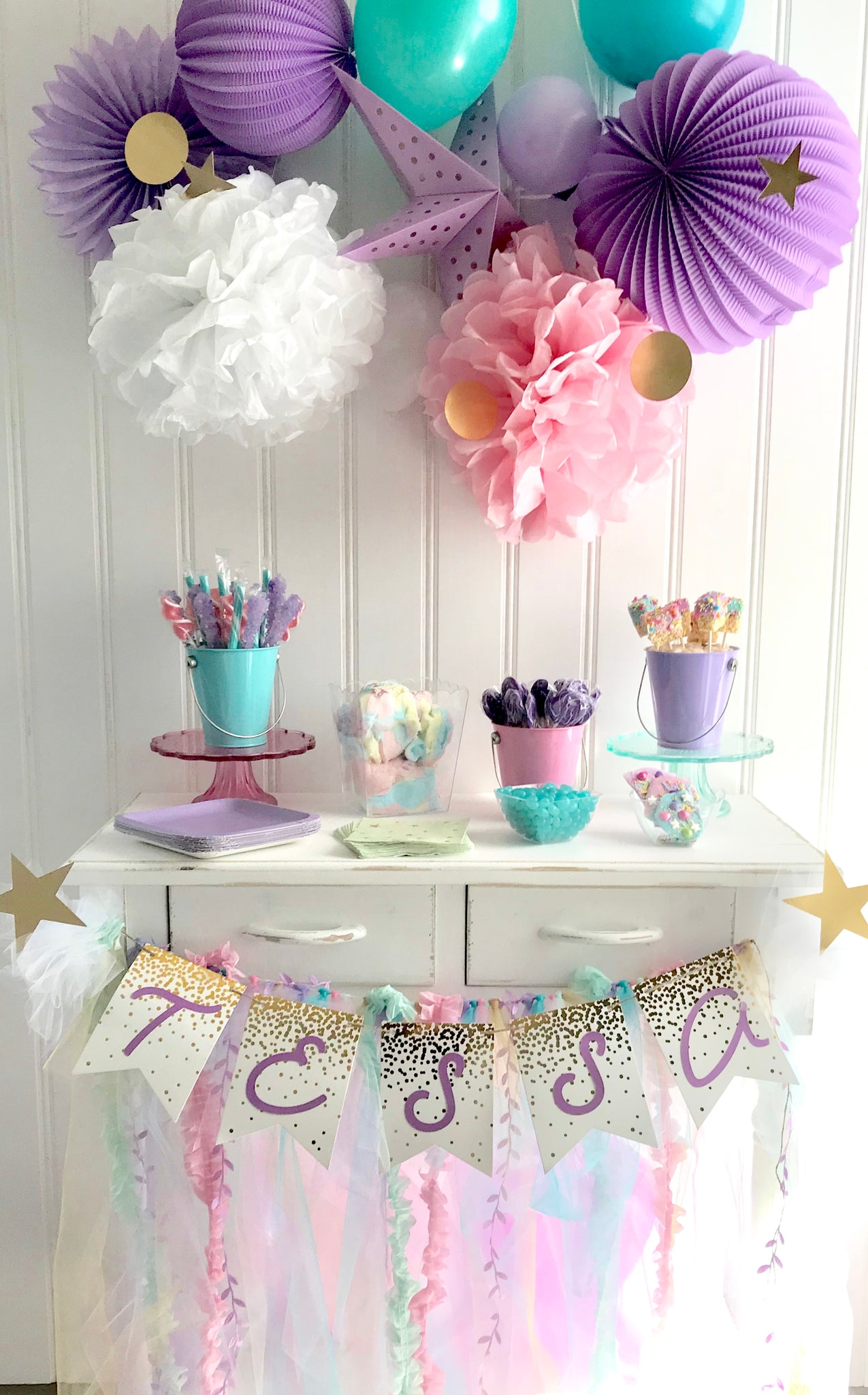 Rainbows & Stars Unicorn Candy Station
