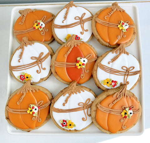 Pumpkin Spice Toffee Decorated Cookies