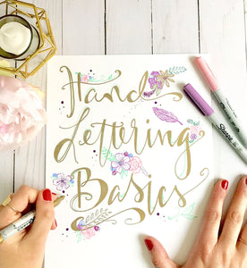Hand Lettering Basics Workshop