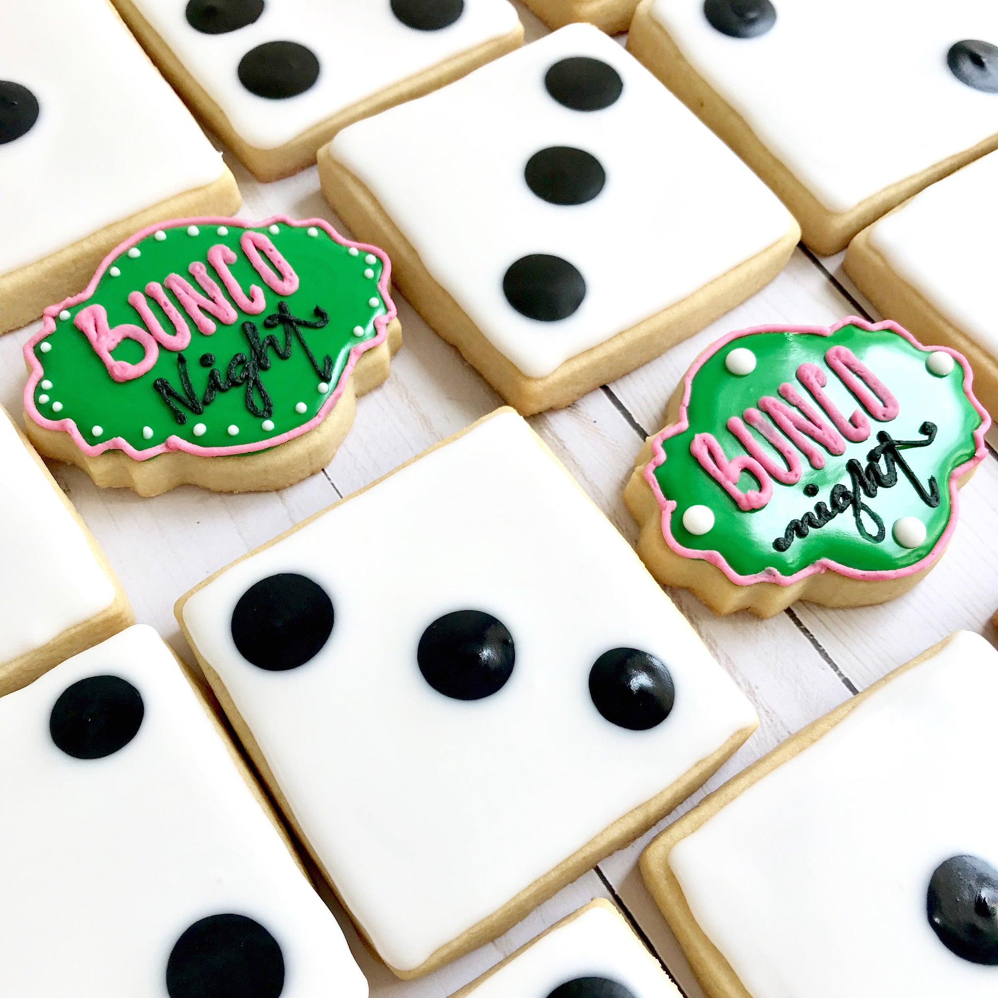 Bunco Night Cookies