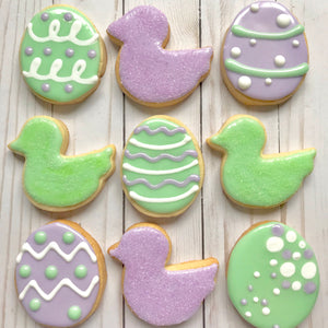 Easter Eggs and Ducks Cookies