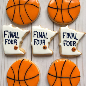 Final Four Basketball Cookies