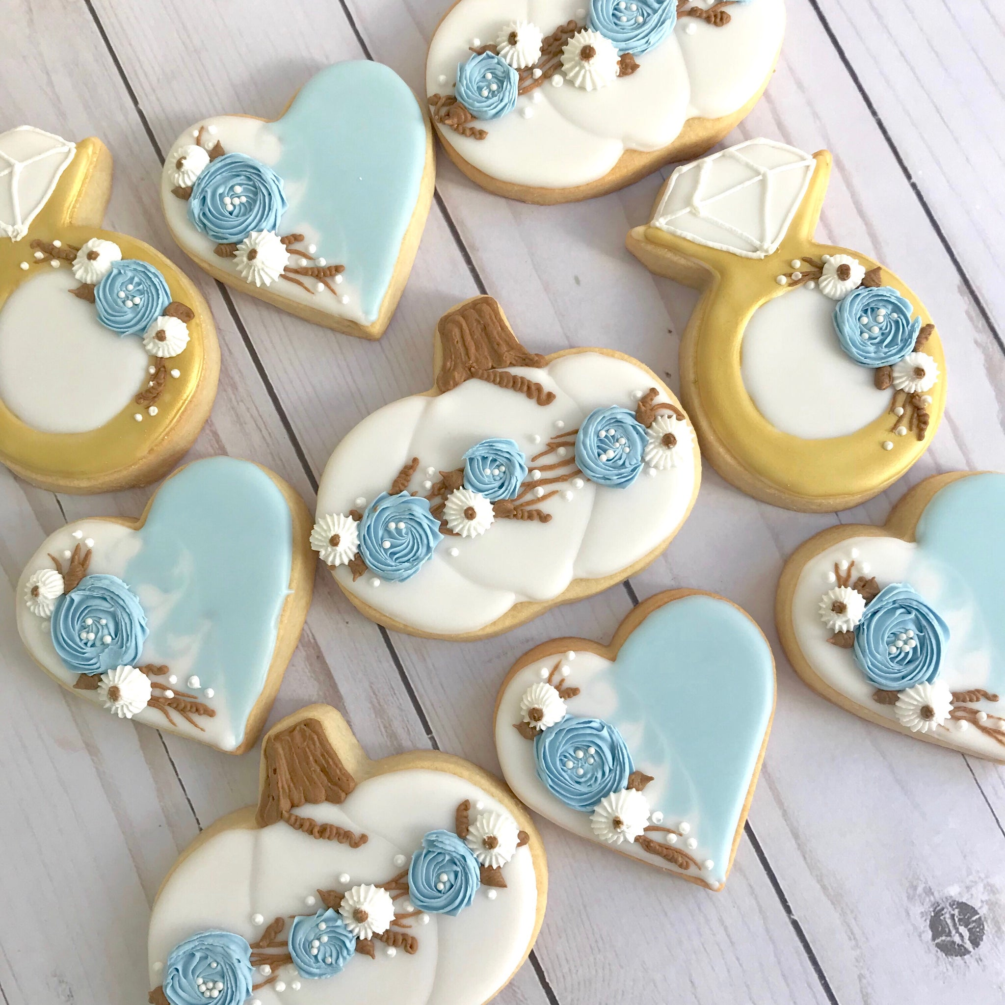 Fall Bridal Shower Cookies