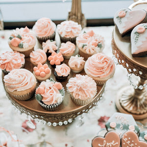 Peach Blush Wedding Cupcakes