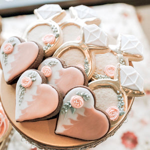 Peach Blush Wedding Cookies