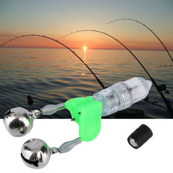 LED Twin Bells Fishing Rod Bite Alarm