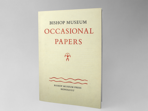 Bishop Museum Occasional Papers Volume 31