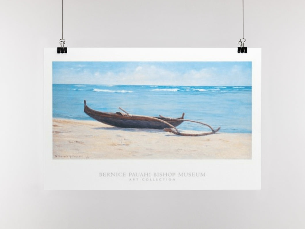 The Beach at Waikiki (Poster)