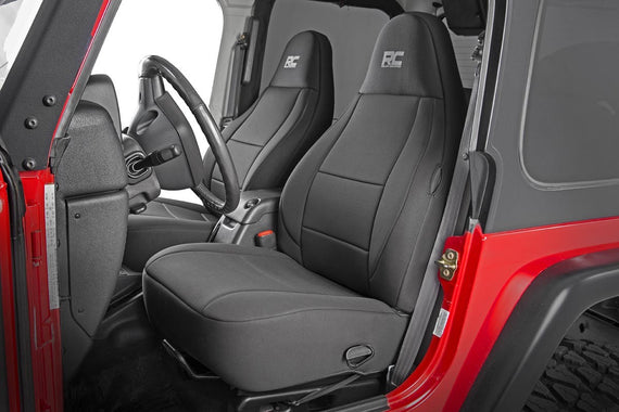 Good Jeep Wrangler TJ Seat Covers Black Neoprene Seat Cover Set (1997 2006)