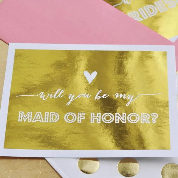 BRIDESMAIDS & MAID OF HONOR QUESTION CARDS (SET OF 4)