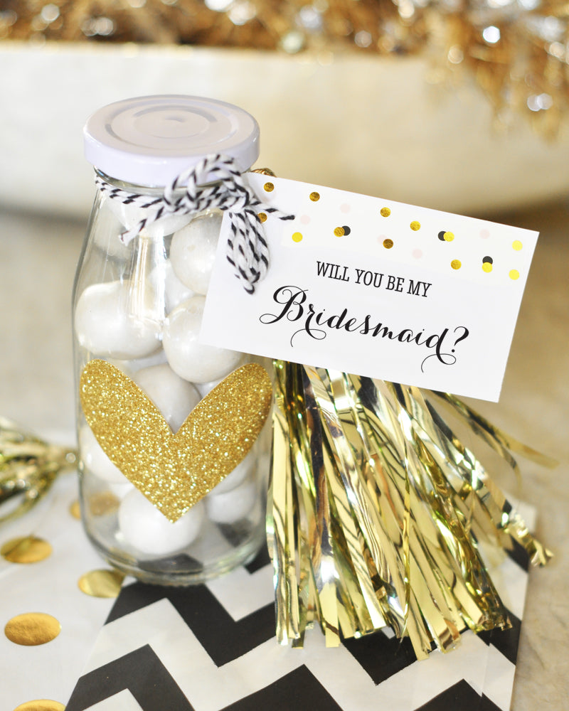 WILL YOU BE MY....? TAGS & TASSELS (SET OF 6)