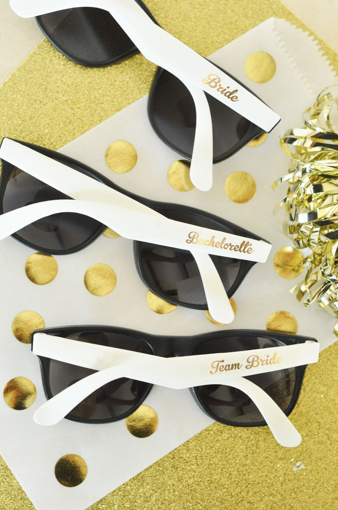 WHITE BRIDAL PARTY SUNGLASSES (SET OF 6)