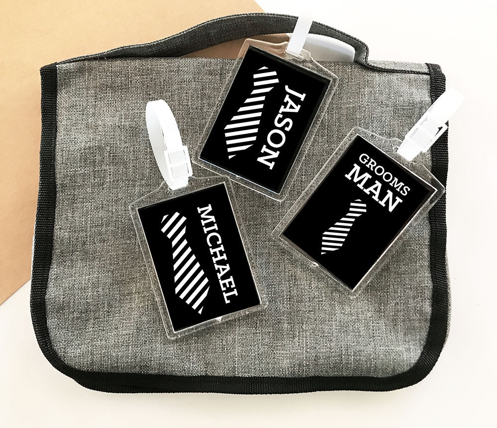 GROOMSMEN LUGGAGE TAGS