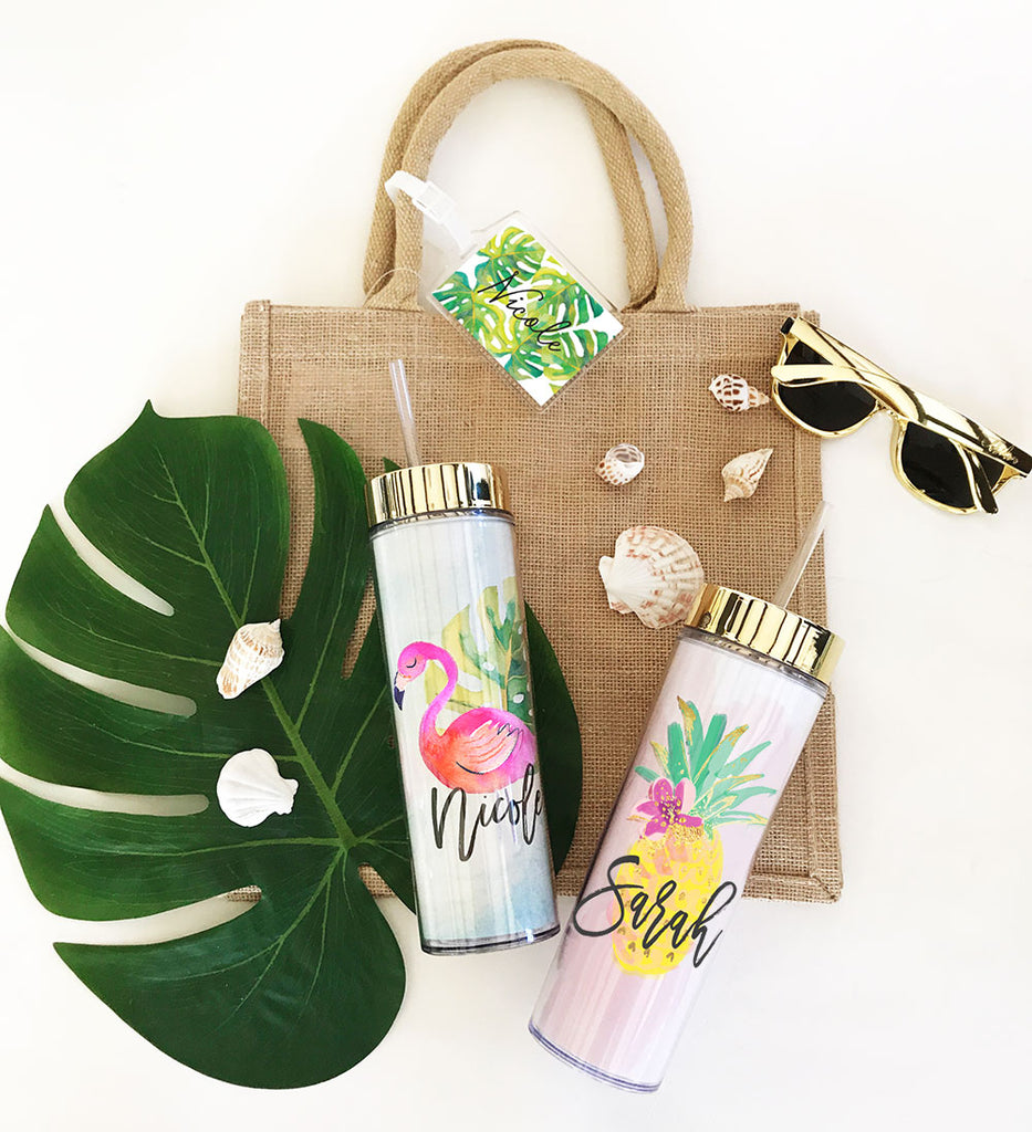 TROPICAL BEACH TALL TUMBLER
