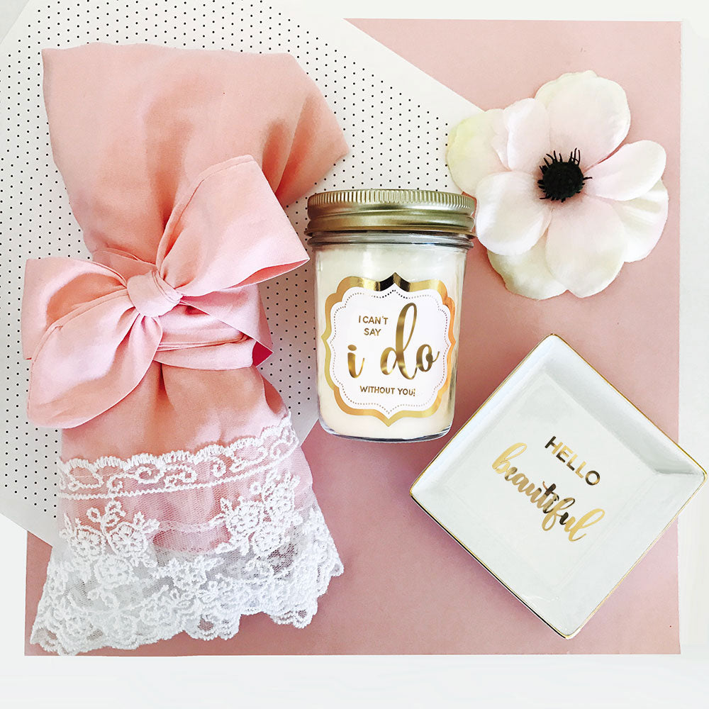 WEDDING MASON JAR CANDLE