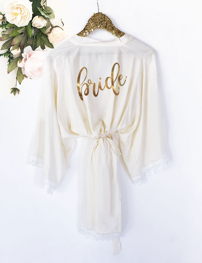 BRIDAL PARTY COTTON LACE ROBES