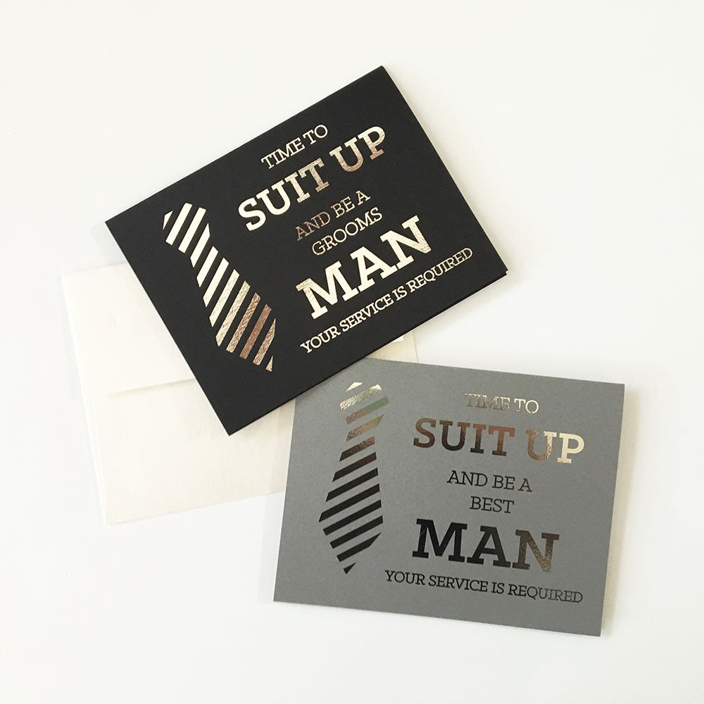 BE MY GROOMSMEN CARDS (SET OF 4)