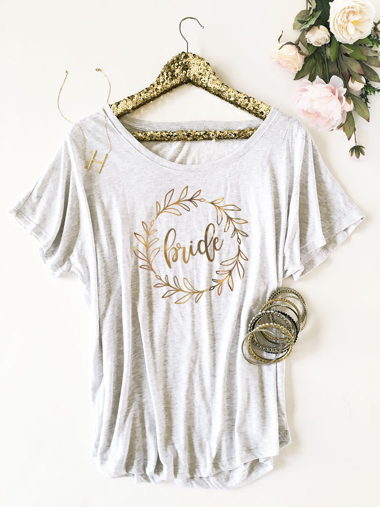 WREATH BRIDAL PARTY SHIRT - LOOSE FIT