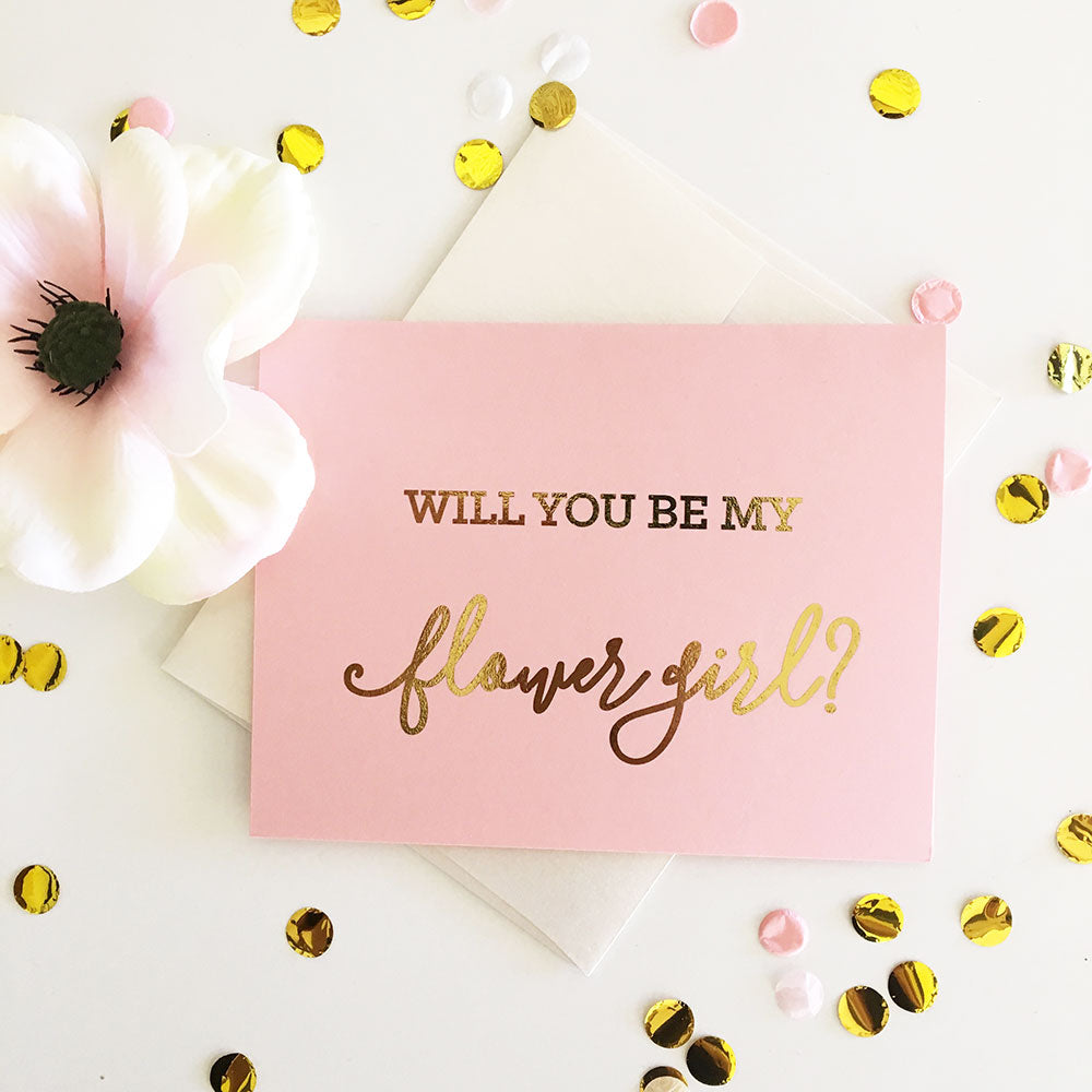 BE MY BRIDAL PARTY CARDS (SET OF 4)