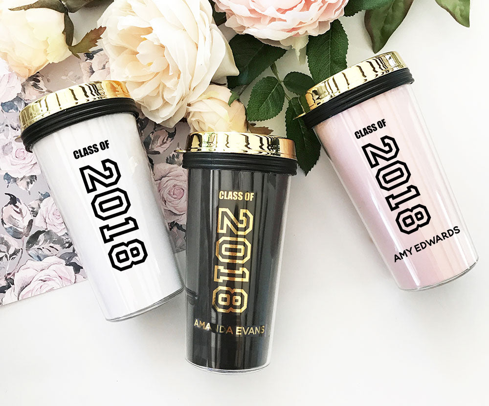 GRADUATION TRAVEL MUG - GOLD LID