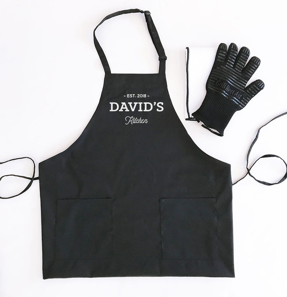 MEN'S CUSTOM TEXT APRONS