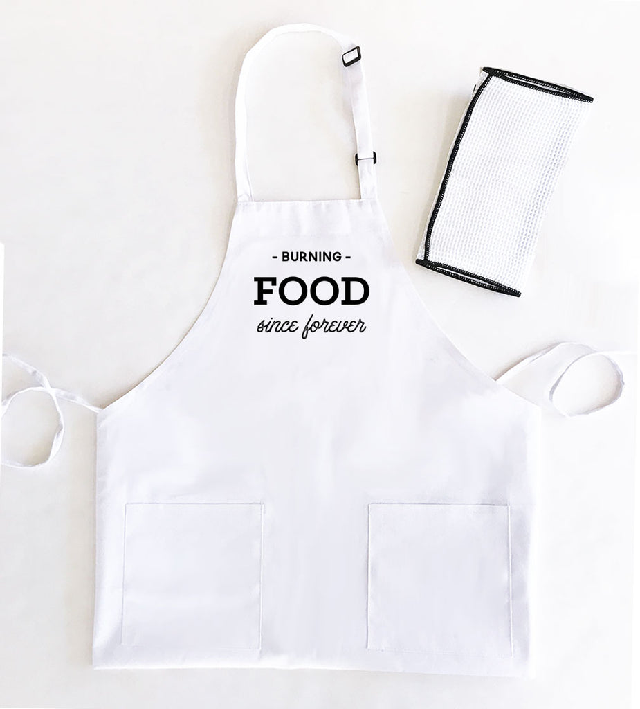 WOMEN'S CUSTOM TEXT APRONS