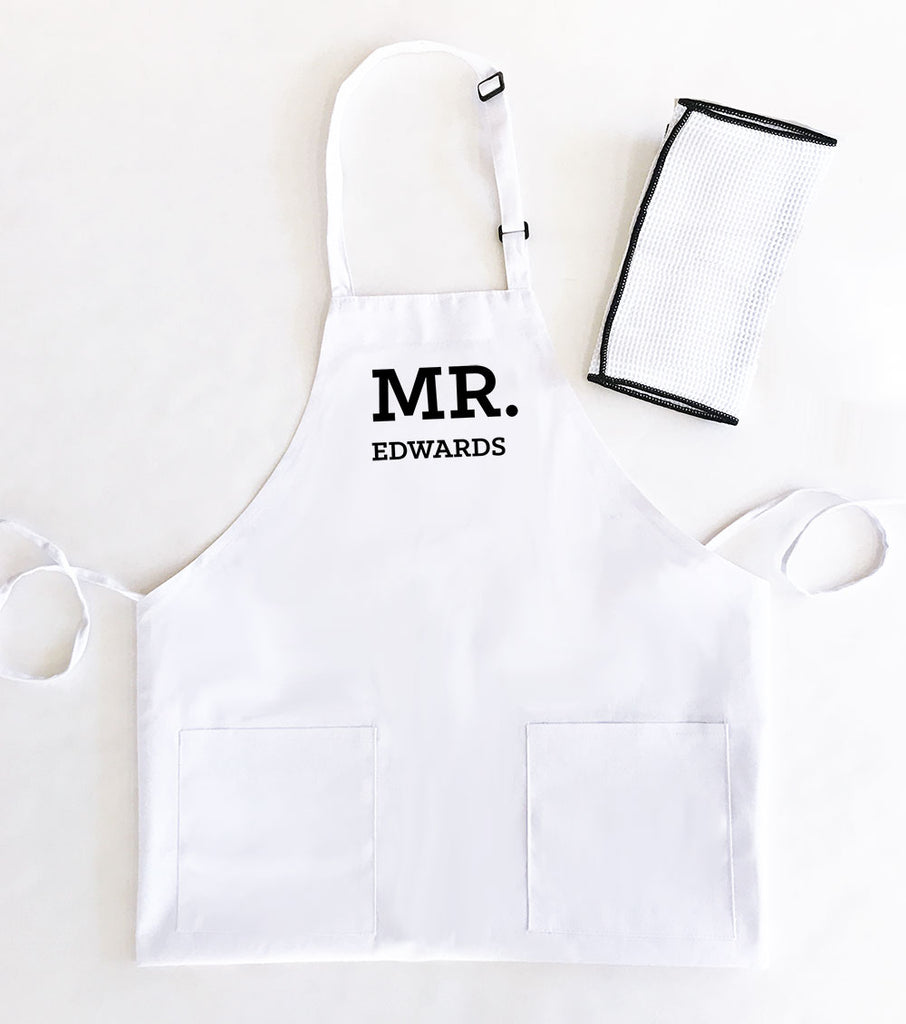 PERSONALIZED MR & MRS. APRONS