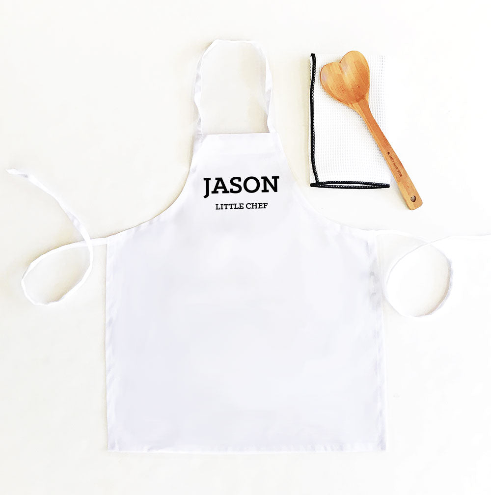 KID'S CUSTOM TEXT APRONS