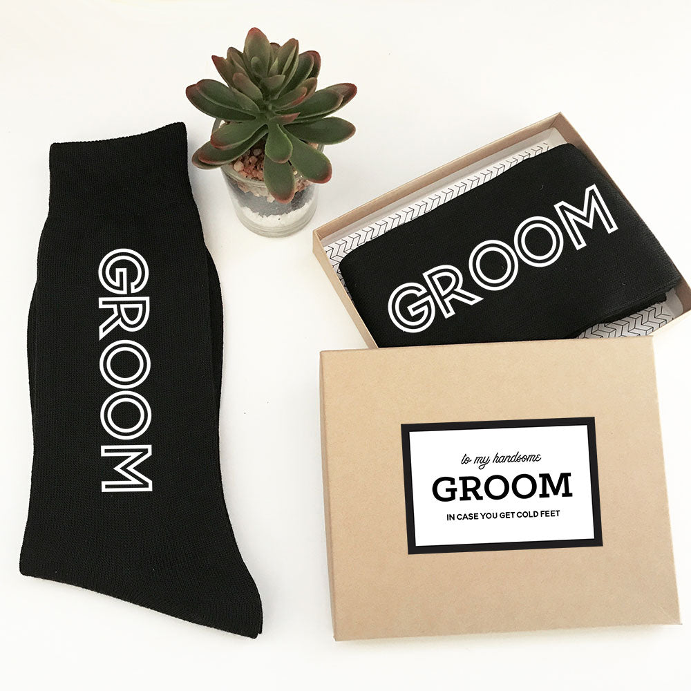 BLACK GROOMSMEN DRESS SOCKS