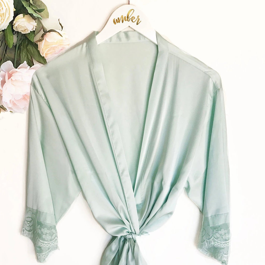 SATIN LACE ROBES