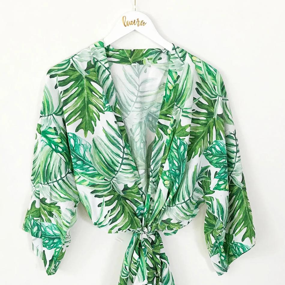 PALM LEAF COTTON ROBES