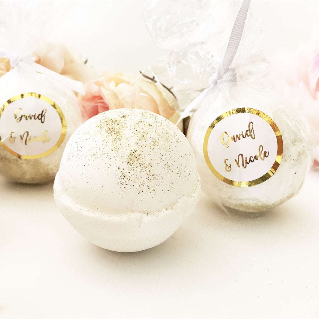 FOIL CUSTOM BATH BOMB FAVORS - 12 PACK