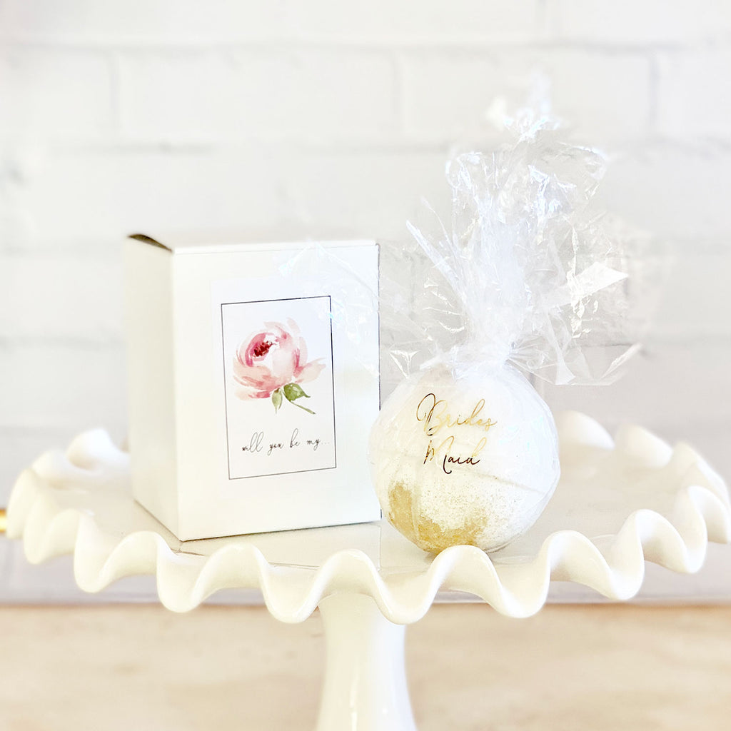 BRIDAL PARTY PROPOSAL BATH BOMBS