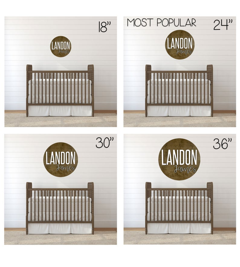 Custom Nursery Name Sign 12-36""