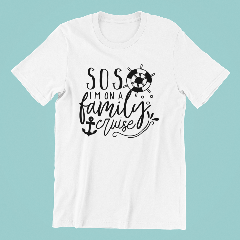 SOS I'M ON A FAMILY CRUISE T-SHIRT