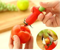 Red Strawberry Huller Strawberry Top Leaf Remover Gadget Tomato Stalks Fruit Knife Stem Remover Tool Portable Cool Kitchen Gadget Coolstuffsales.com -8