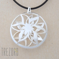 Actinotus Helianthi Sterling Silver Pendant Front